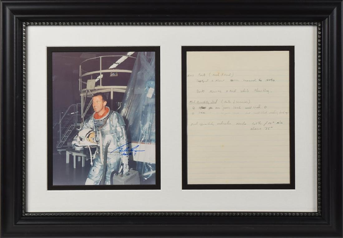 Gordon Cooper Handwritten Notes and Signed Photo