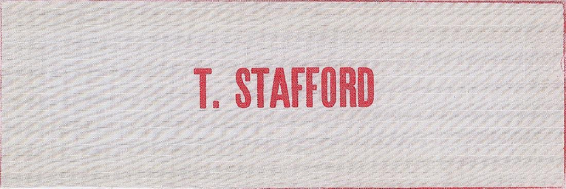 Gordon Cooper and Tom Stafford Beta Patch Name Tags