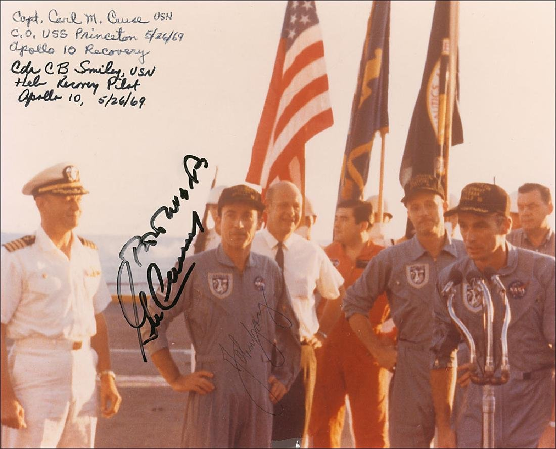 Gene Cernan and John Young Signed Photograph