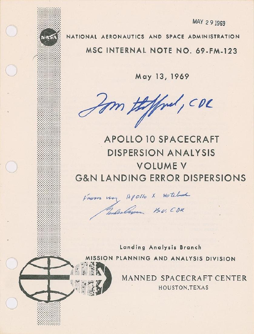 Gordon Cooper and Tom Stafford Signed Apollo 10 Report