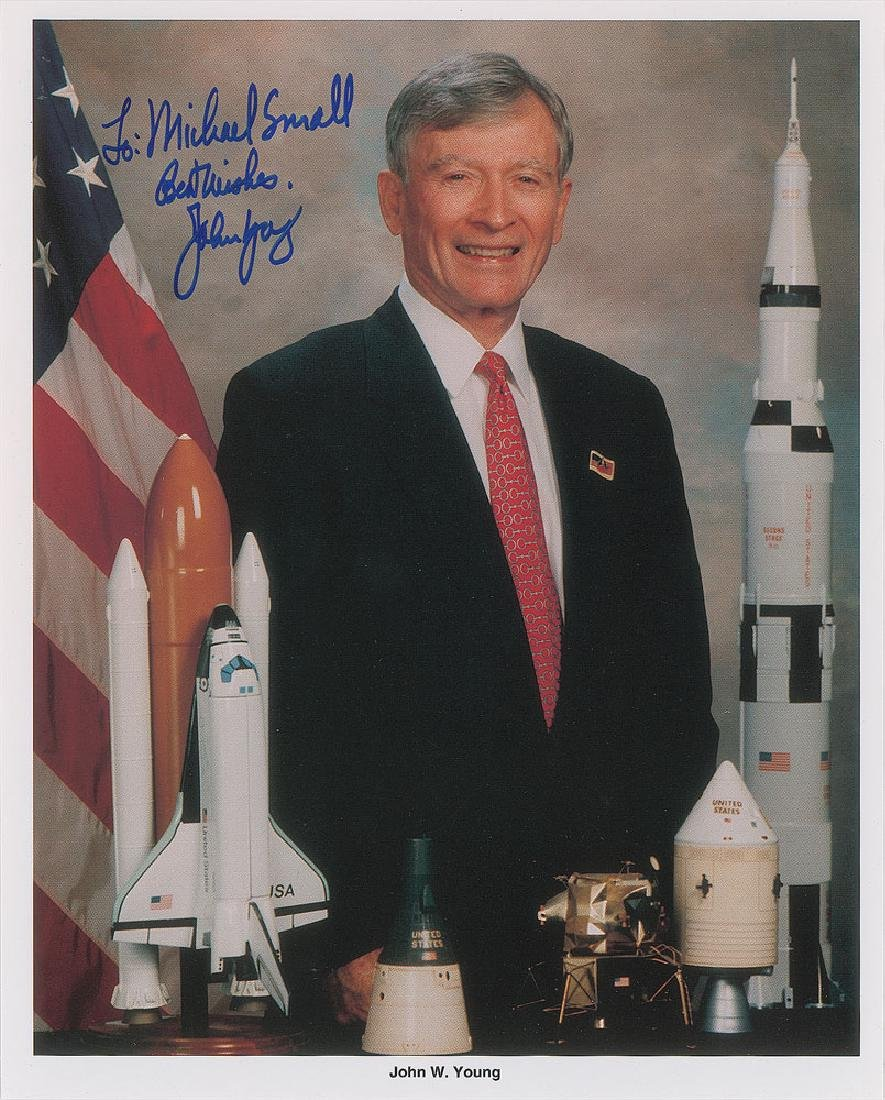 John Young Signed Photograph