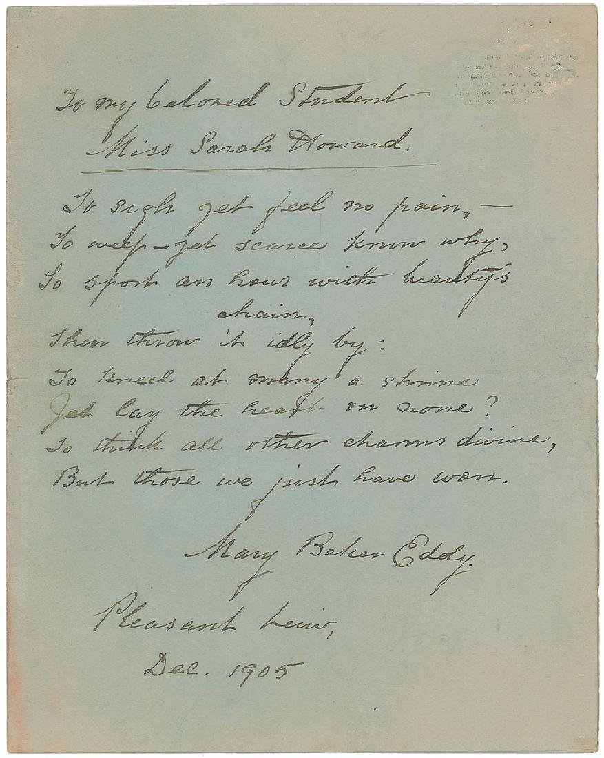 Joseph Cosey: Mary Baker Eddy