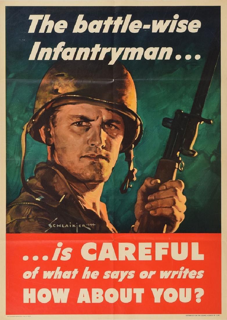 World War II Poster: Battle-Wise Soldier