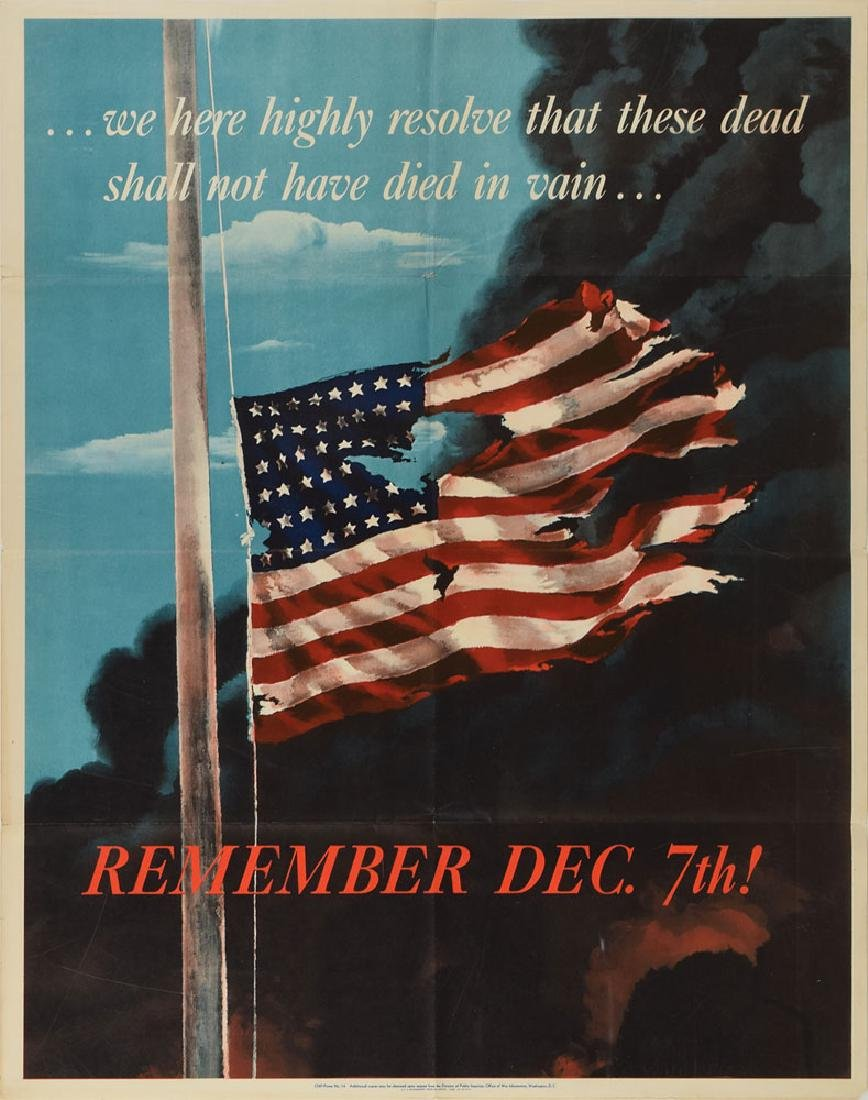 World War II Poster: Remember Dec. 7th!