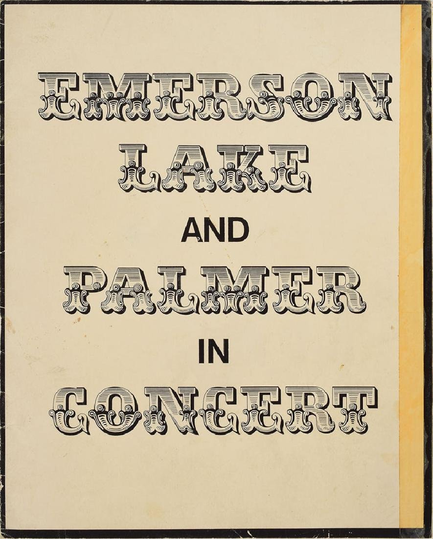 Emerson, Lake, and Palmer Pair of Signed Programs