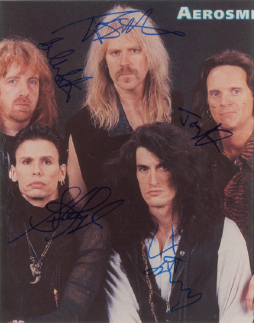 Aerosmith Oversized Signed Photograph