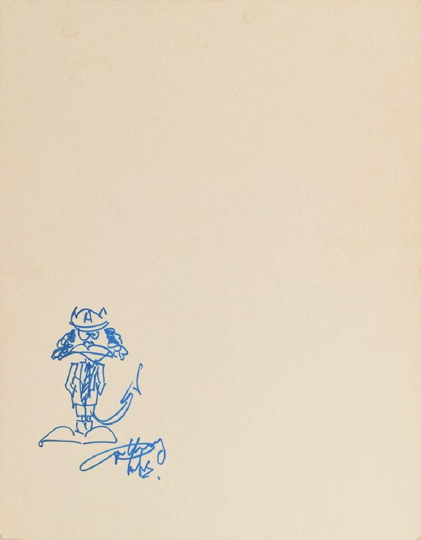 AC/DC: Angus Young Signed Sketch