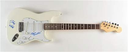 Johnny and Edgar Winter Signed Guitar