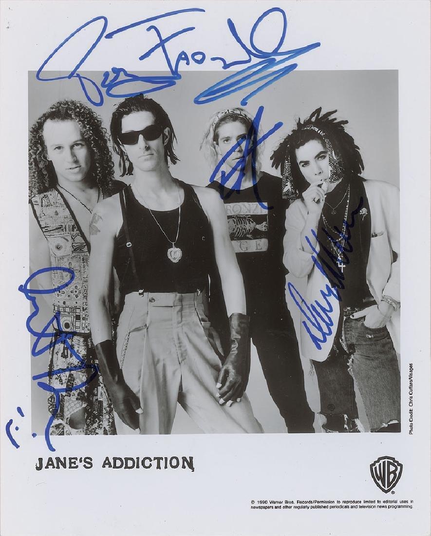 Jane's Addiction Signed Photograph