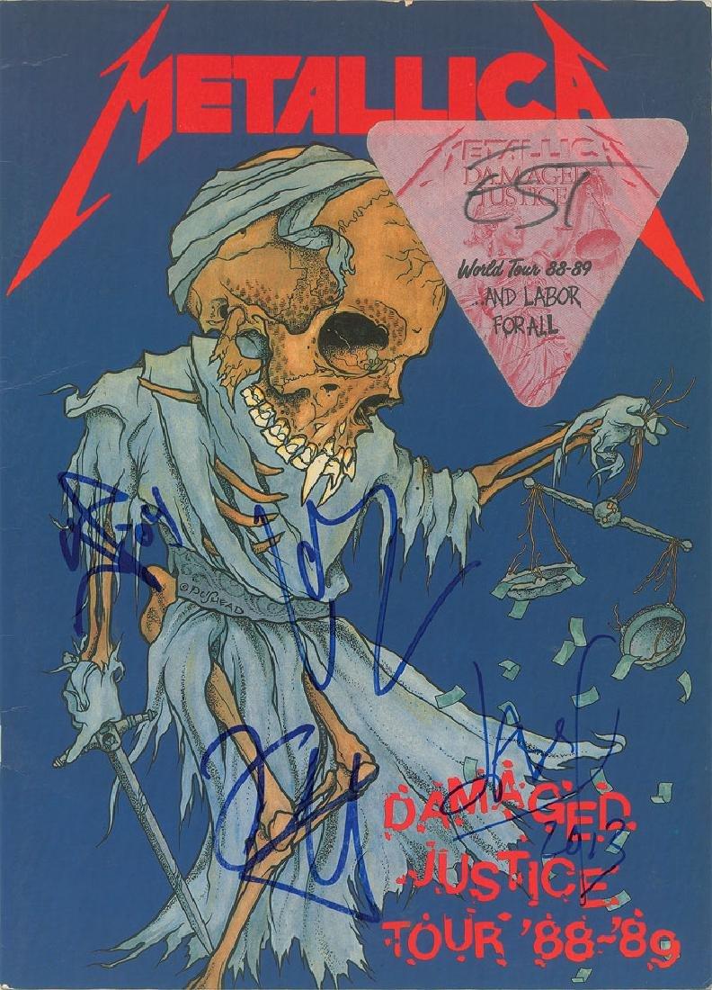 Metallica Signed Tour Book
