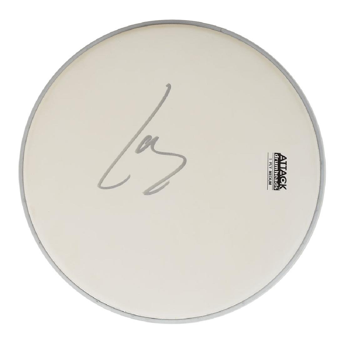 Metallica: Lars Ulrich Signed Drum Head