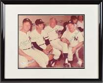 NY Yankees Mantle DiMaggio Ford and Martin Signed