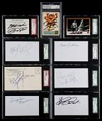 Boxing Legends Group of 10 Signatures
