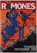The Ramones 1989 Australia Signed Poster