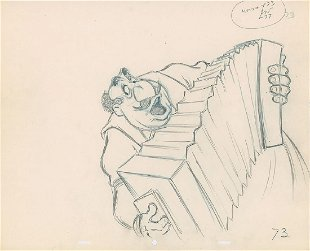 Original Lady And The Tramp Production Drawing Aug 31 2019 Van Eaton Galleries In Ca