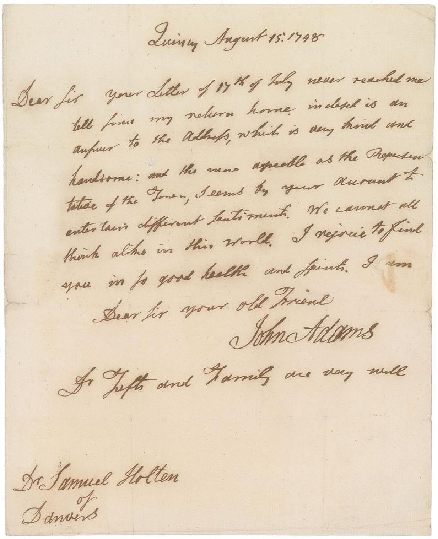John Adams Autograph Letter Signed