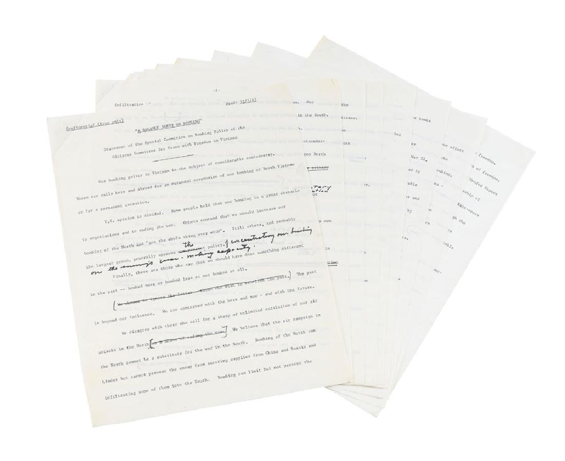 Dwight D. Eisenhower Hand-Edited 'Balance Sheet on