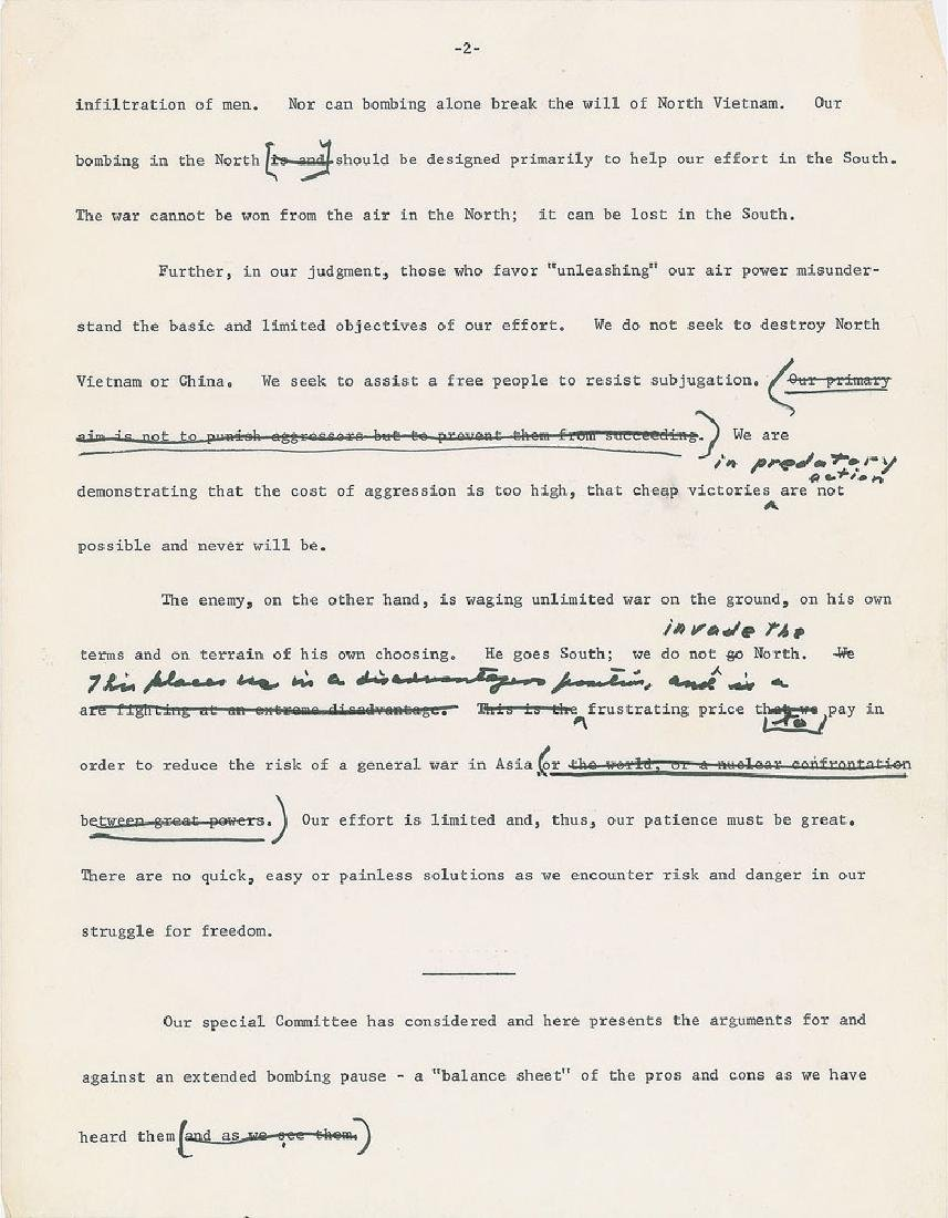 Dwight D. Eisenhower Hand-Edited 'Balance Sheet on - 3
