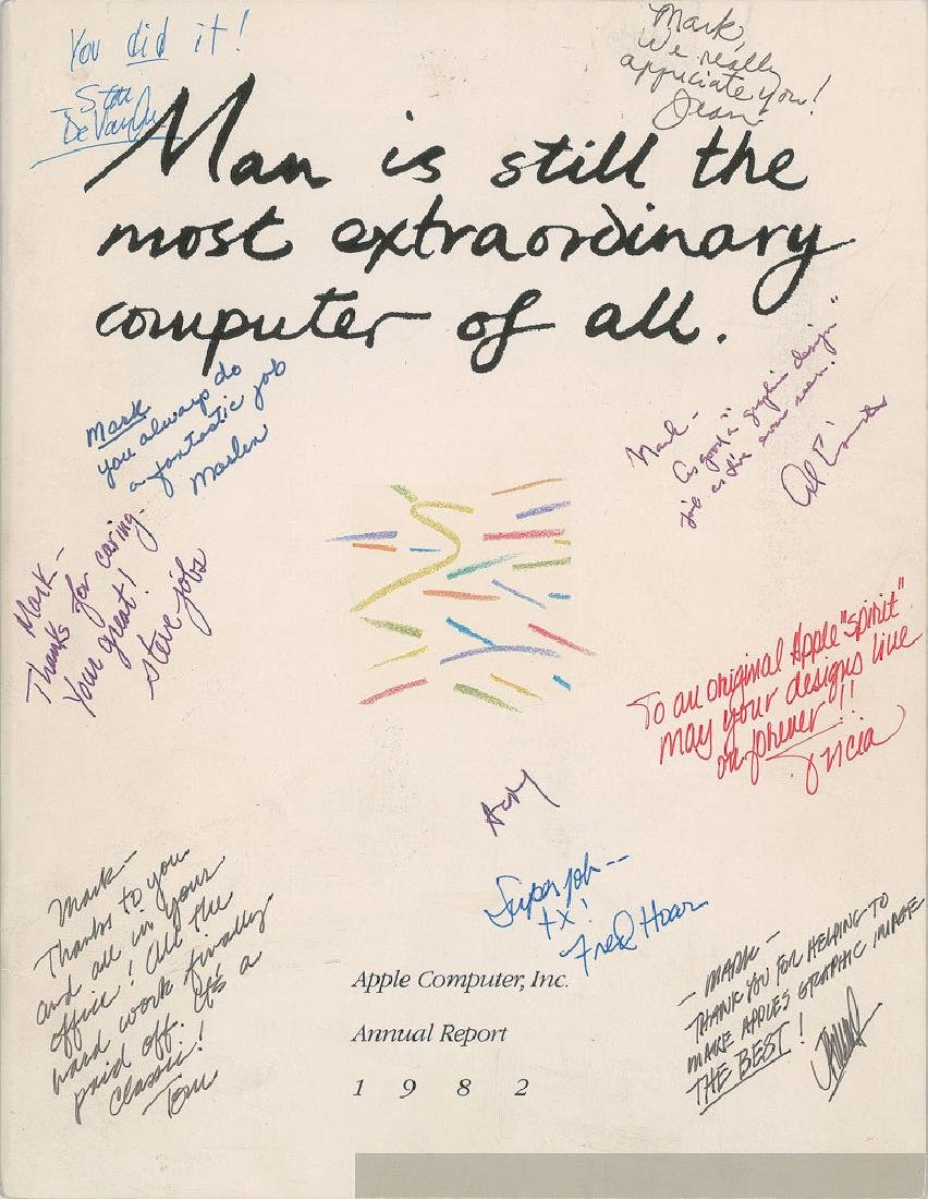 Steve Jobs Signed Annual Report