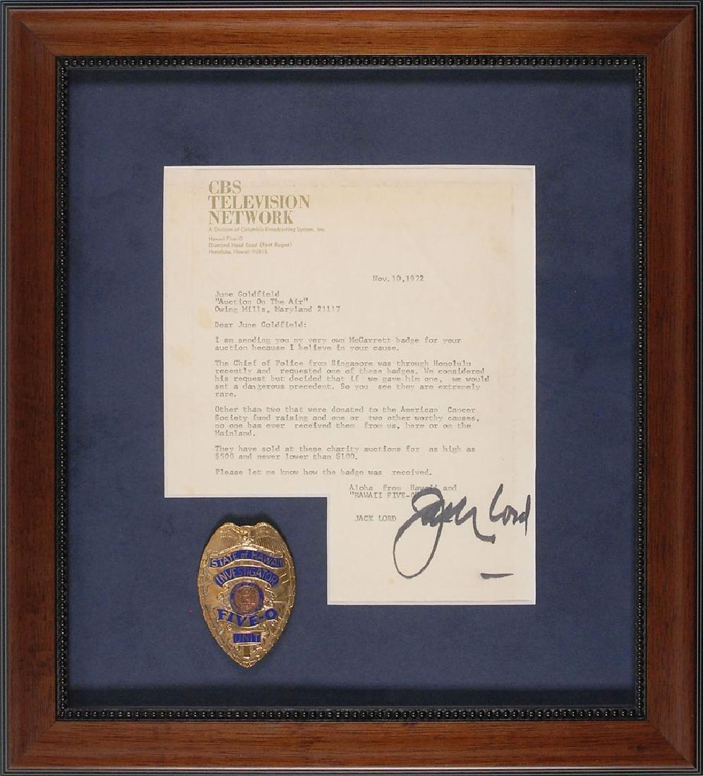 Jack Lord's Personal Hawaii Five-O Badge, Pilot Script, - 2