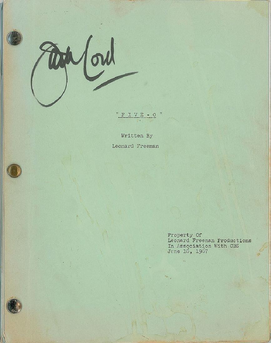 Jack Lord's Personal Hawaii Five-O Badge, Pilot Script, - 3