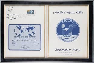 Michael Collins's Apollo 11 Signed Splashdown Party