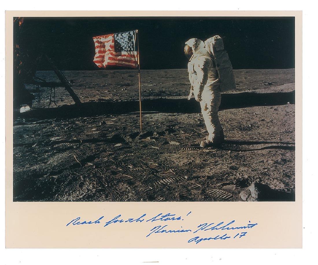 Harrison Schmitt Signed Photograph
