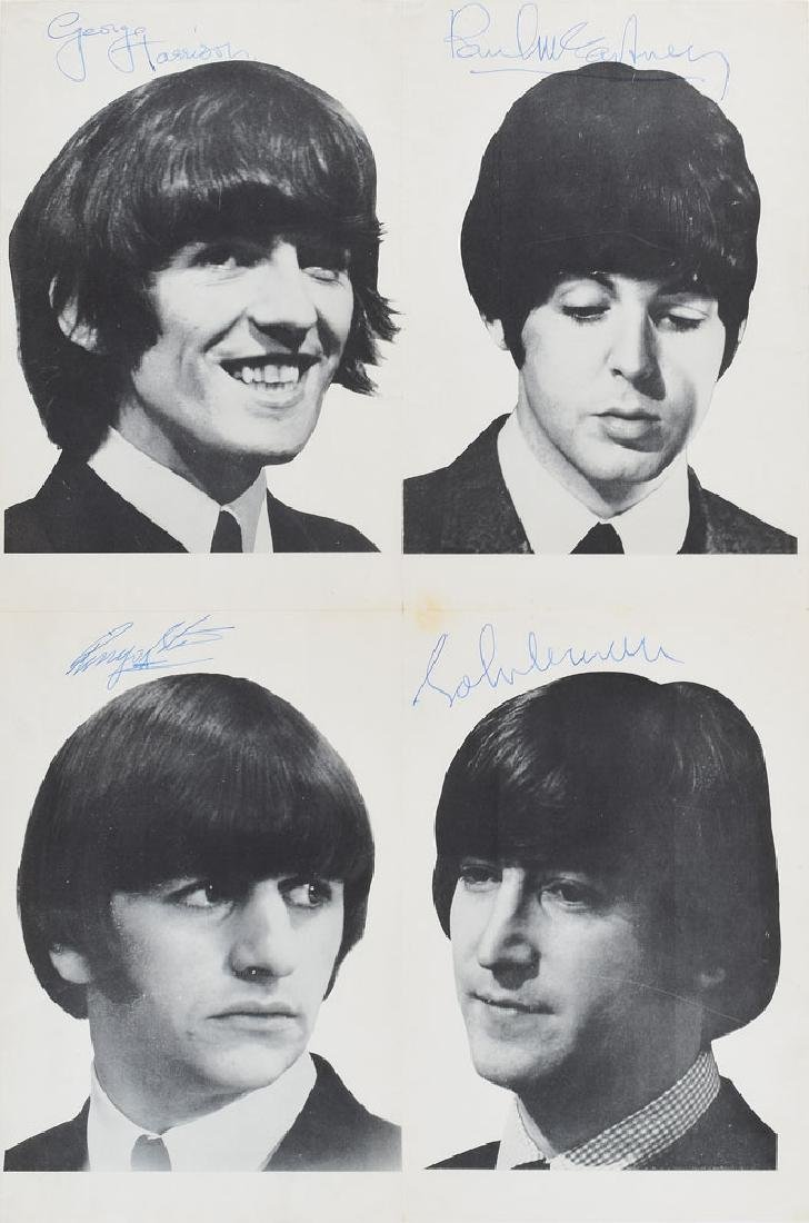 Beatles Signed Poster