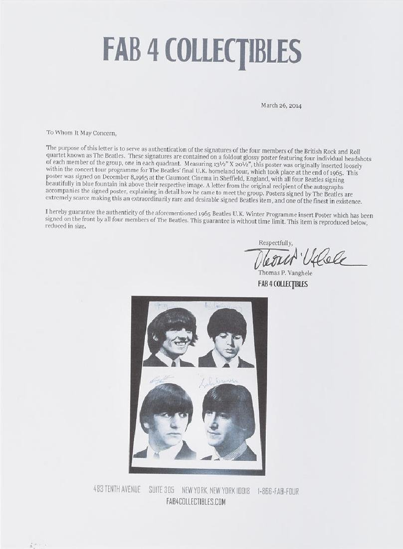 Beatles Signed Poster - 2