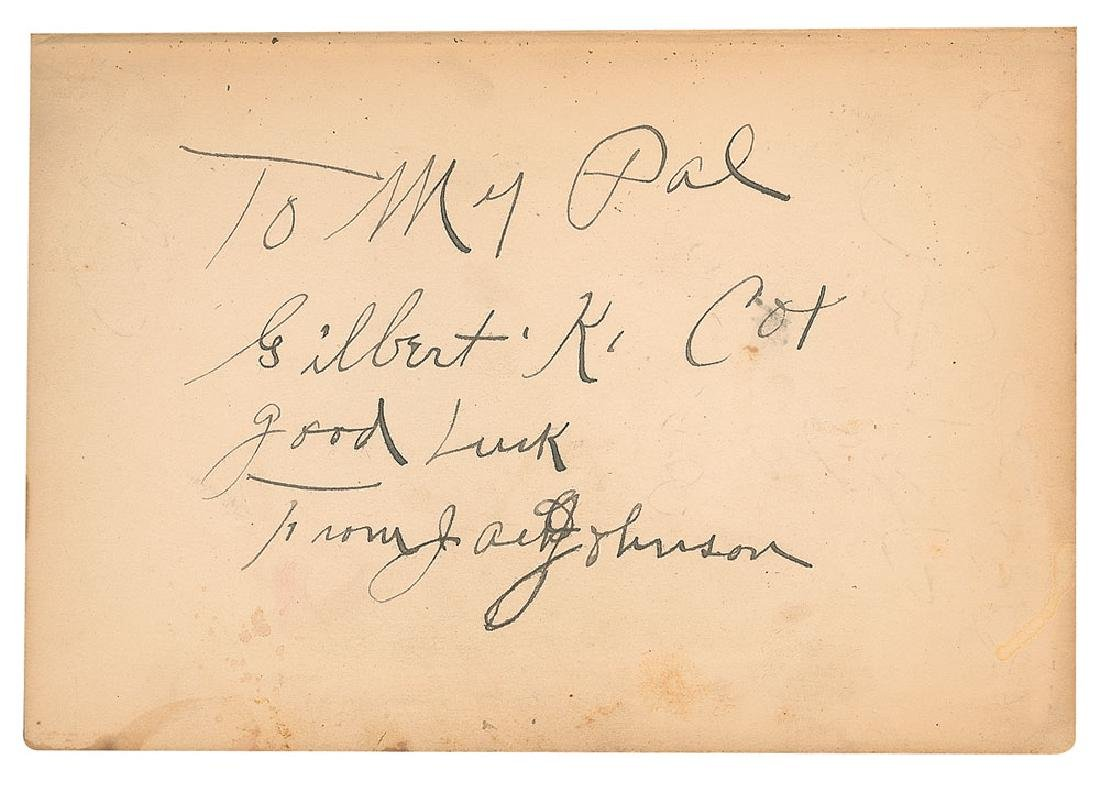 Jack Johnson Signed 1927 Hardcover First Edition of