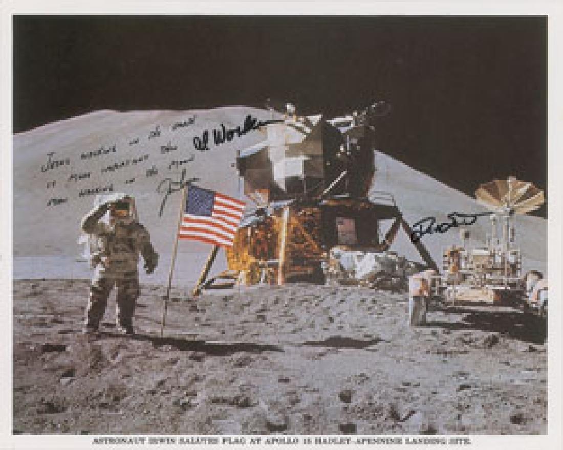 Apollo 15 Signed Photograph