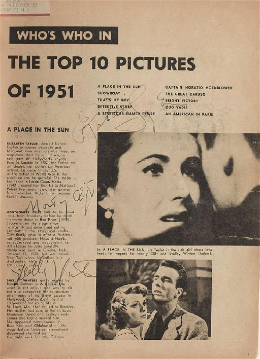 Who's Who in Hollywood Autograph Books: 1952 and 1953 - May