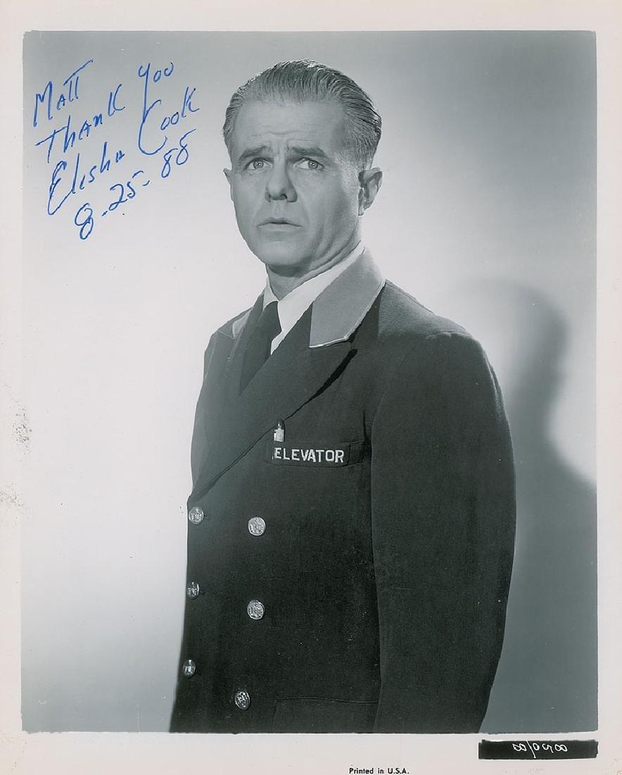 Elisha Cook Signed Photograph