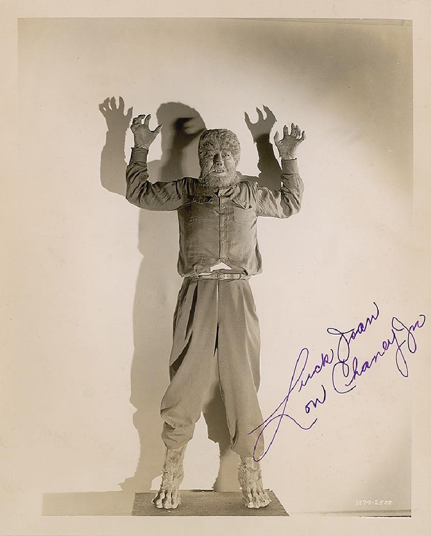 Lon Chaney, Jr. Signed Photograph