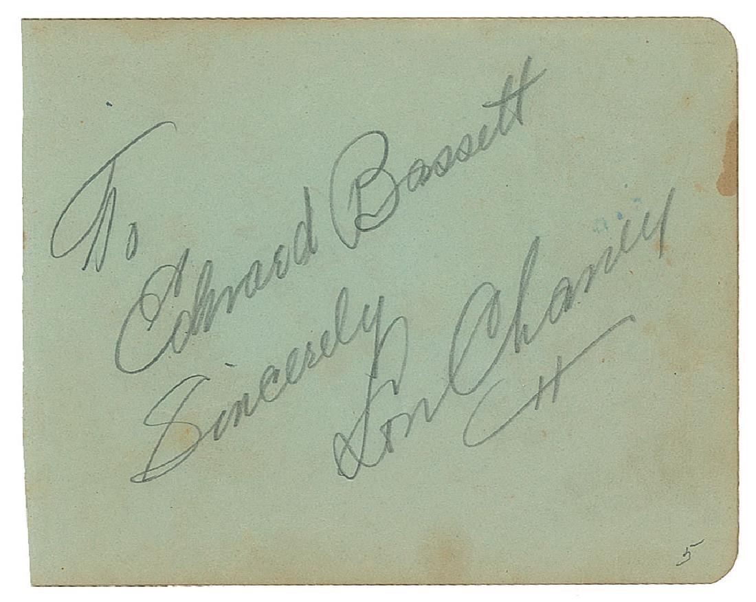 Lon Chaney, Sr. Signature