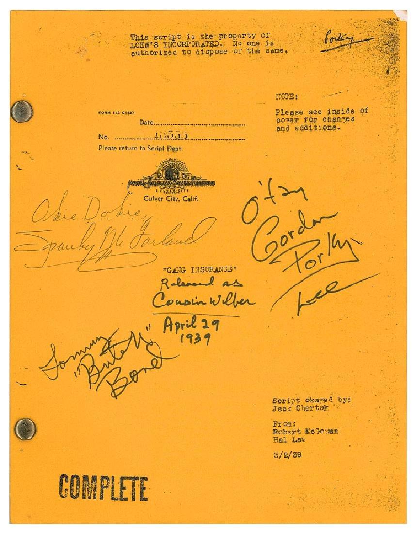 Our Gang Cast-signed Script