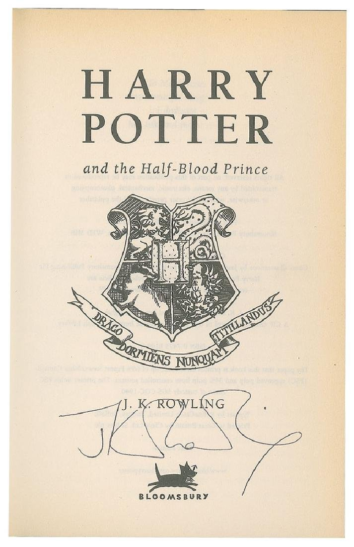 J. K. Rowling Signed Book