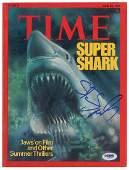 Steven Spielberg Signed Magazine