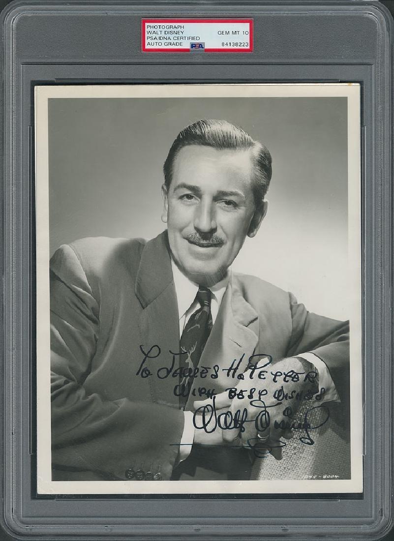 Walt Disney Signed Photograph - PSA/DNA GEM MINT 10