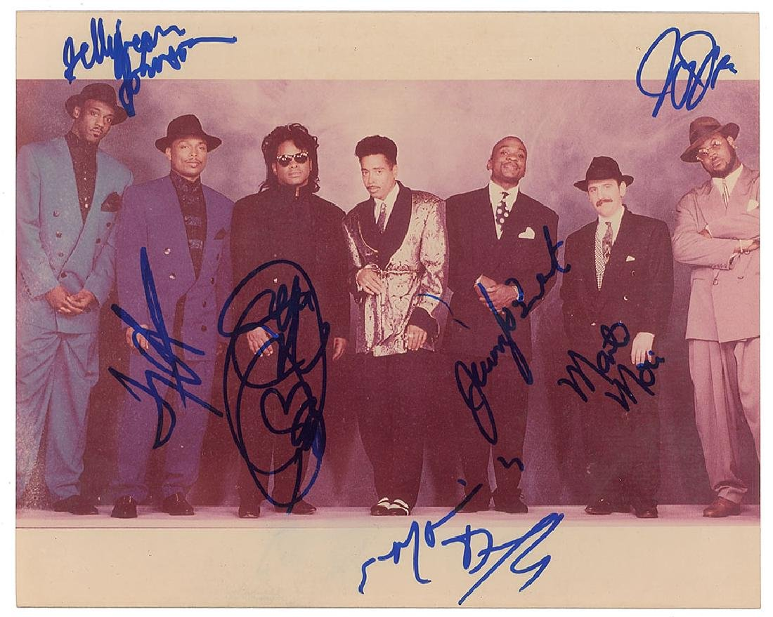 Morris Day and the Time Signed Photograph