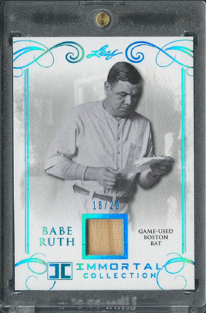 2017 Leaf Babe Ruth Immortals Game Used Bat Card