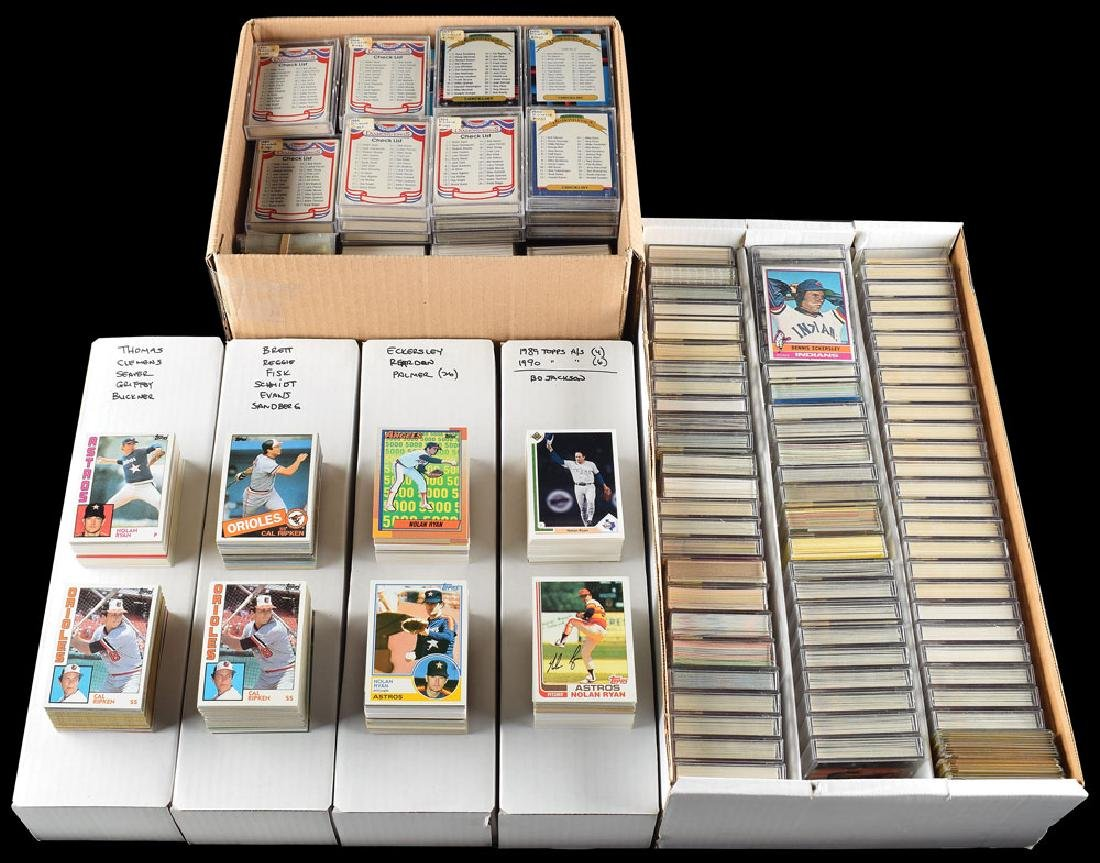 1980s-1990s Baseball Hall of Famers Card Collection of
