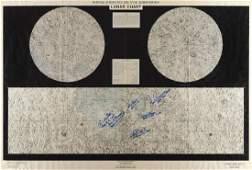 Apollo Astronaut Signed Lunar Chart