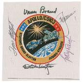 Deke Slaytons Flown Crewsigned ApolloSoyuz Patch
