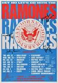 Ramones Signed 1991 Australian Tour Poster