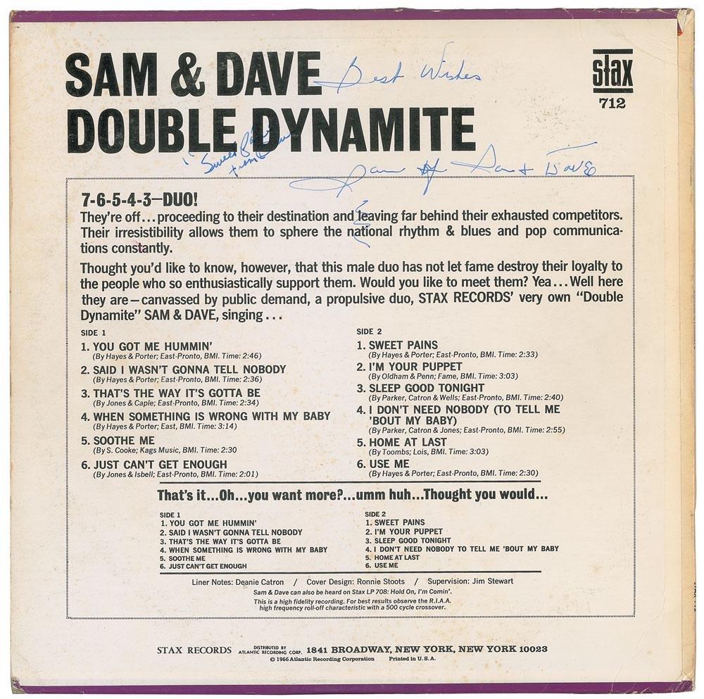 Sam and Dave Signed Album