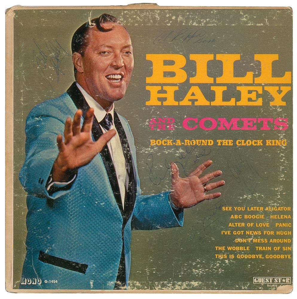 Bill Haley and His Comets Signed Album