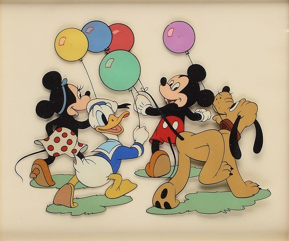 Mickey and Minnie Mouse, Donald Duck, and Pluto