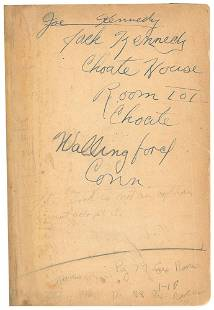 John F. Kennedy's 1931 French Textbook Used at Choate,