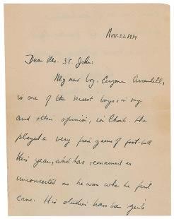 John F. Kennedy ALS to Choate Headmaster Mr. St. John